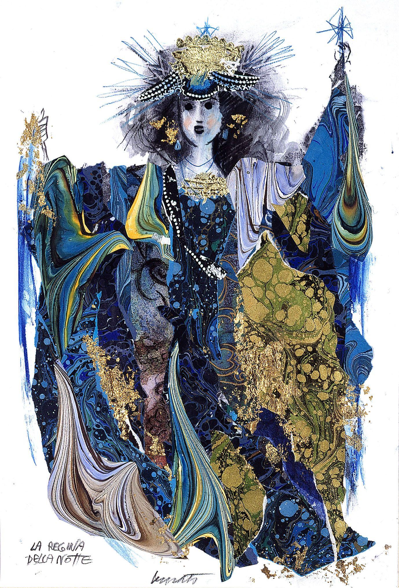 Lele Luzzati_ La regina della notte Illustrazioni