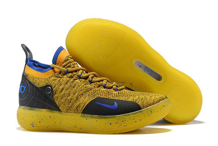 new concept 2d1d4 15529 Nike-KD-11-Warriors-Yellow-Black