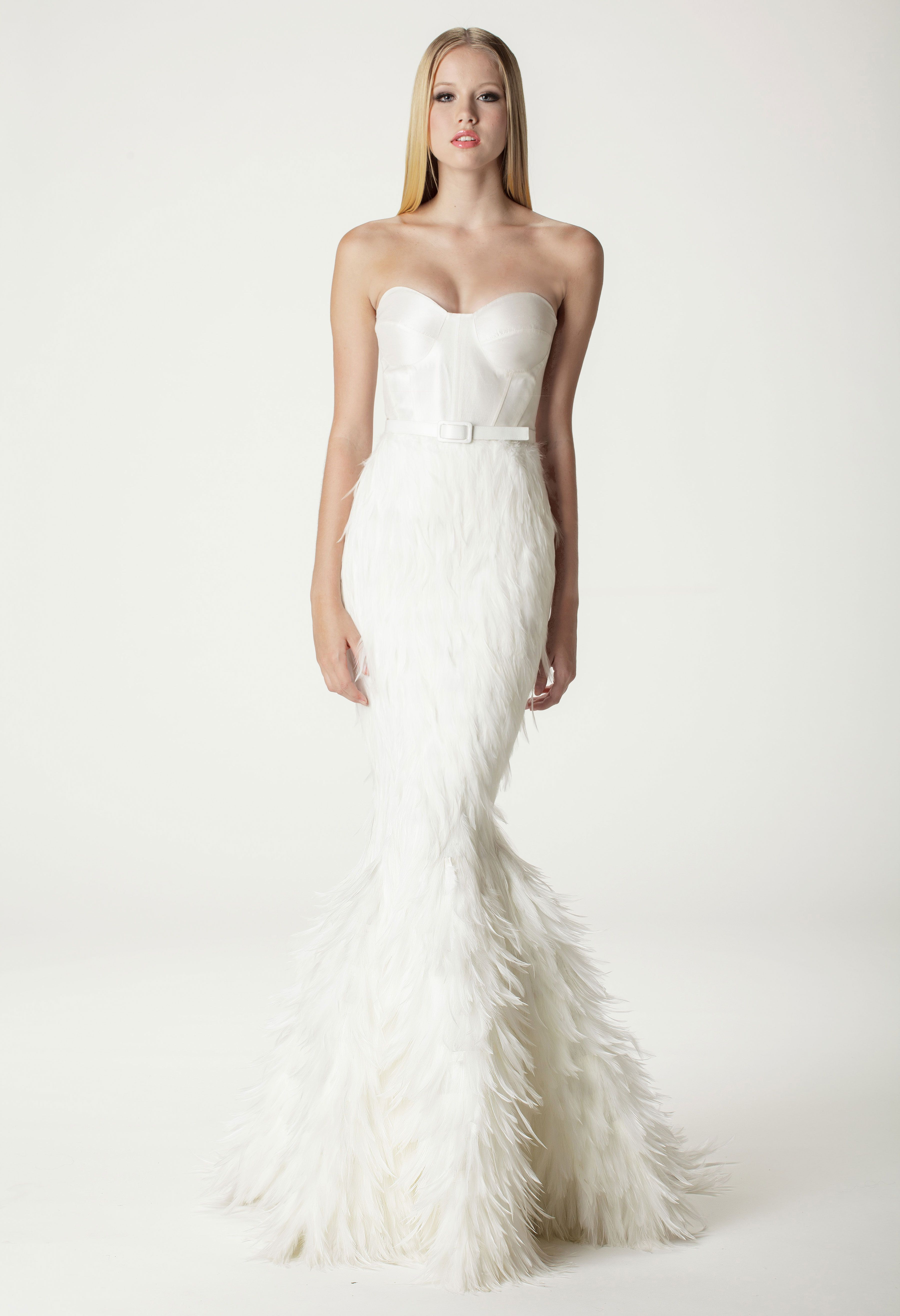 Ideas & Advice | Pinterest | Feather wedding dresses, Wedding dress ...