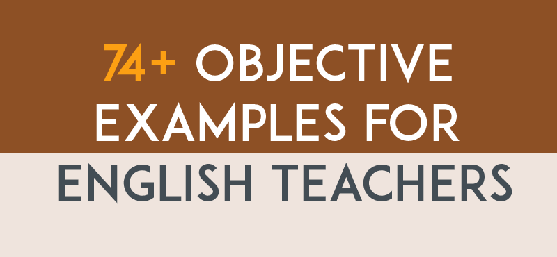 What Is A Career Objective Beauteous Resume Objective Examples For English Teachers  Adulting .