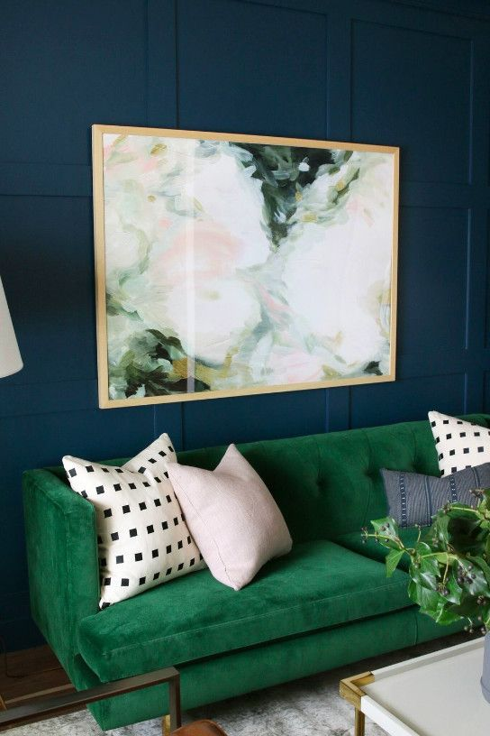 Emerald Green The Perfect Color For Your Summer Designs Studiomcgee2 Emerald Green The Perfect Color For You Living Room Green Room Colors Wall Art Living Room Living room ideas emerald green