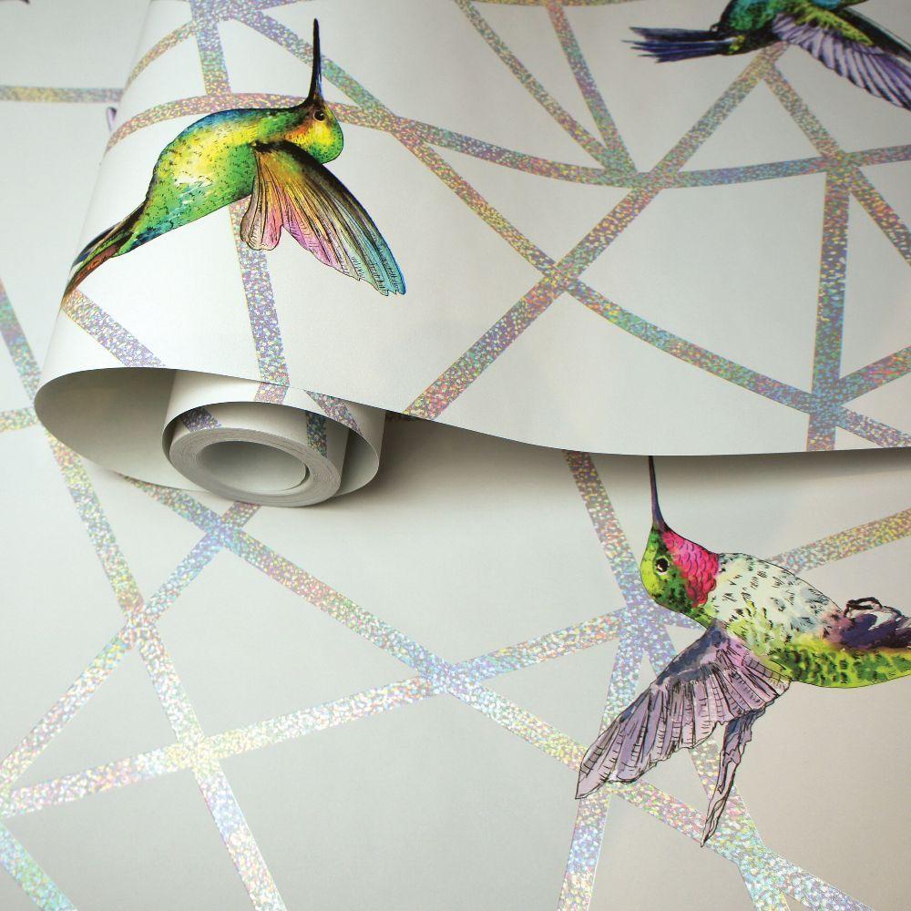Hummingbirds by Albany - Grey - Wallpaper : Wallpaper ...