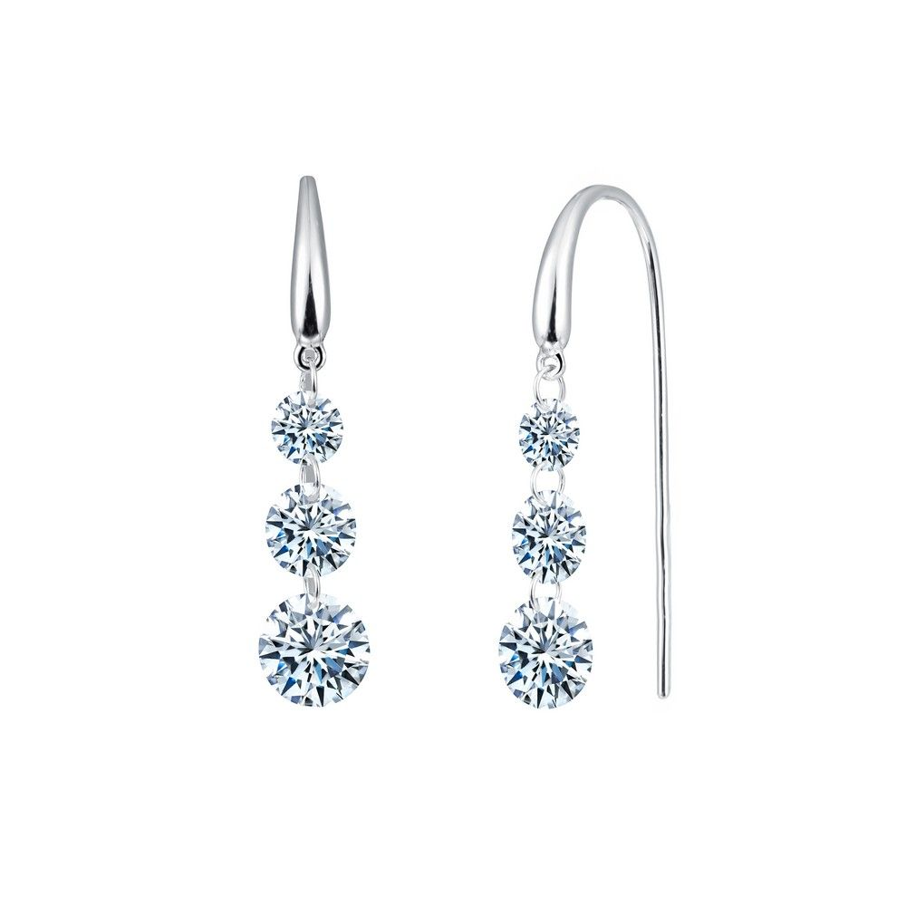 b07b76597 Check out the deal on Lafonn Lassaire in Motion Simulated Diamond Earrings,  Platinum-Plated at Precious Accents, Ltd.