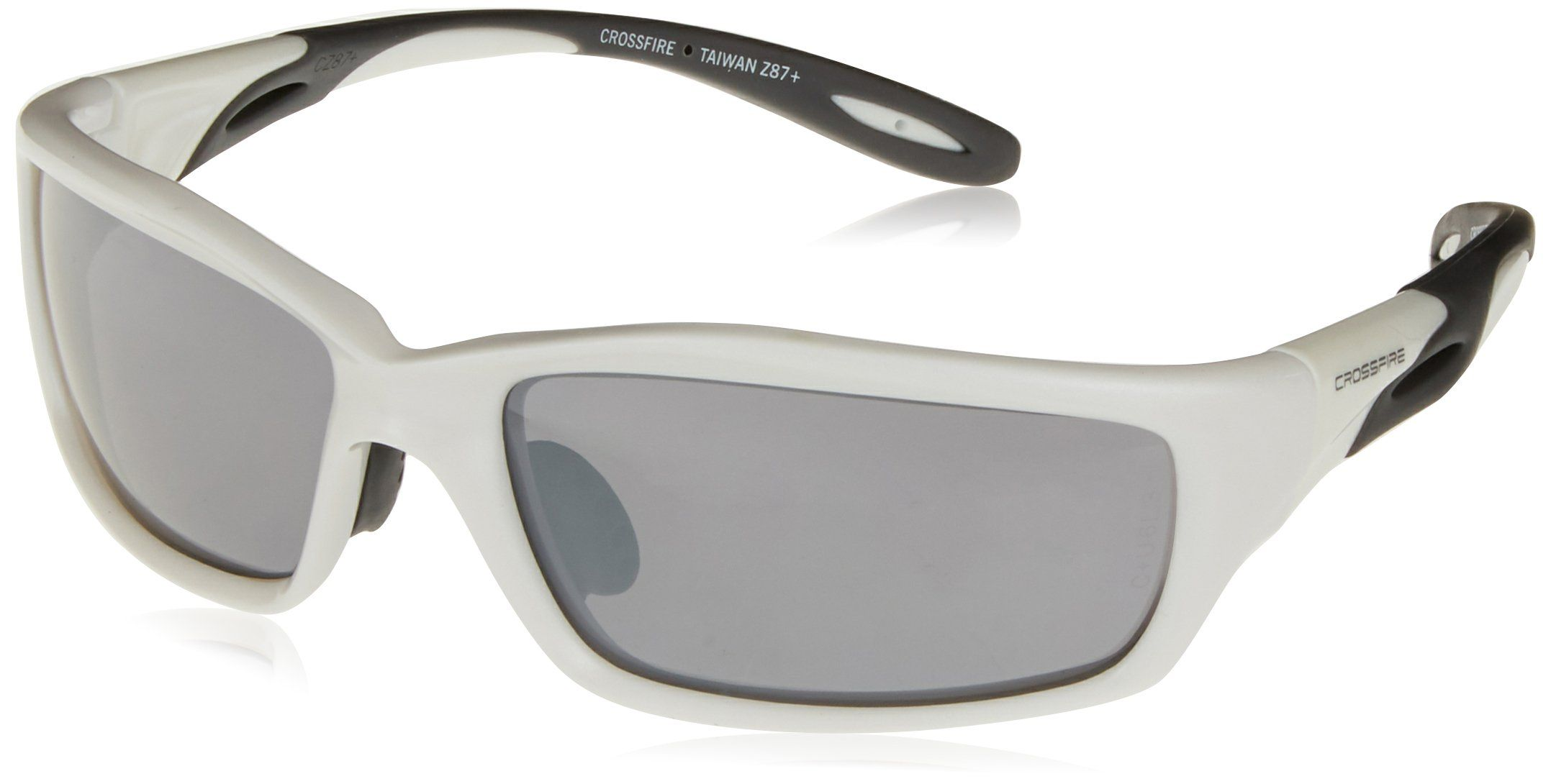 Crossfire 2243 infinity safety glasses silver mirror lens