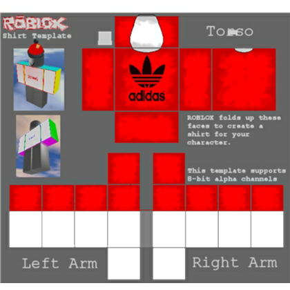 Red Adidas T Shirt - Roblox