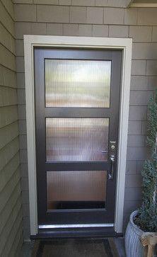 3 Panel Glass Entry Door Design Ideas Pictures Remodel And Decor Glass Front Door Privacy Front Door Curtains Metal Front Door