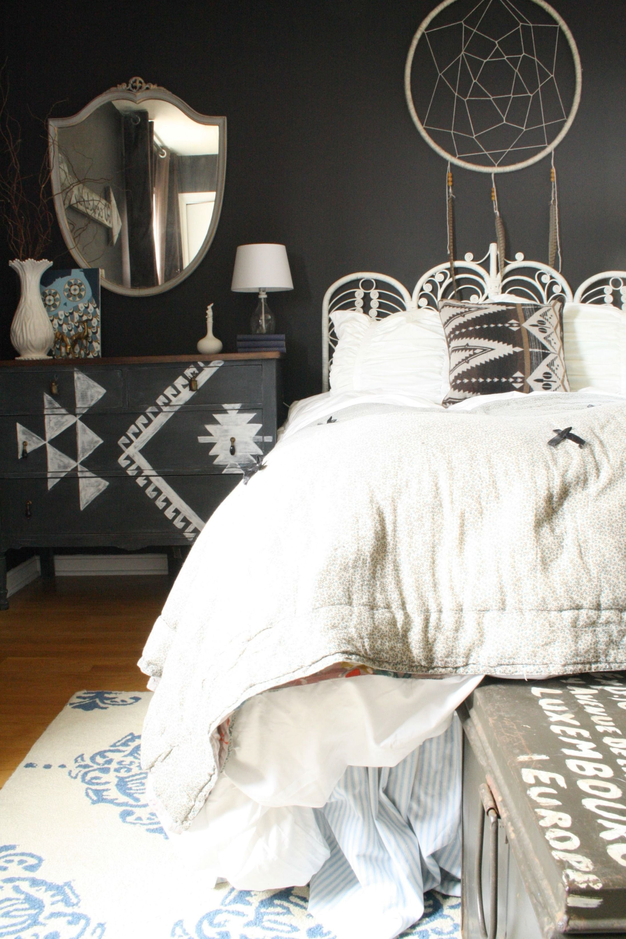 DIY Kilim Inspired Dresser Boho Chic BedroomBedroom