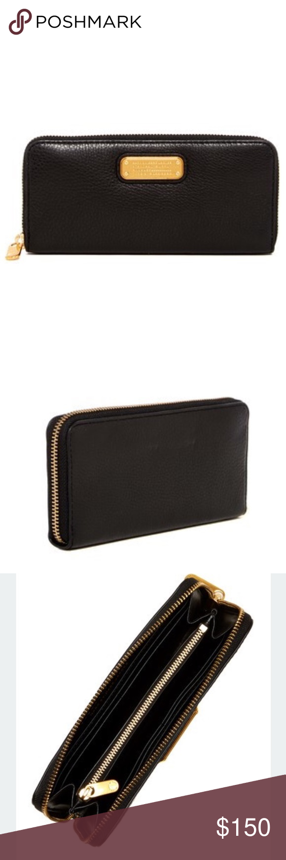 Classic Q-Slim Zip Continental Leather Wallet Marc by Marc Jacobs Classic Q-Slim Zip Continental Leather Wallet in Black. Brand new. Marc by Marc Jacobs Bags Wallets