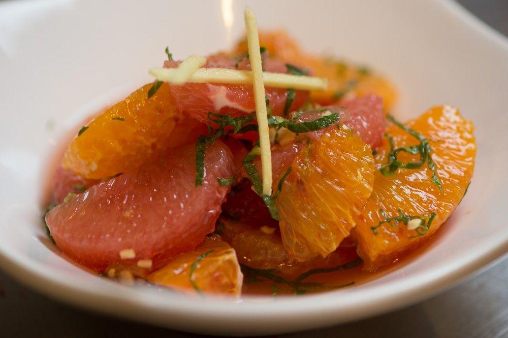 salade d'agrumes menthe gingembre