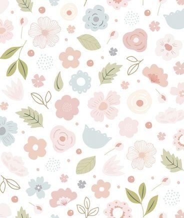 Papel pintado ni a dise o flores habitaci n infantil en 2019 - Papel pintado bebe nina ...