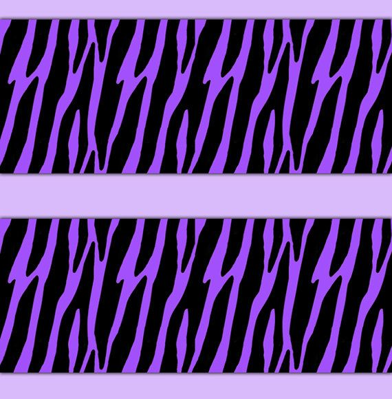 ZEBRA PRINT DECAL Sticker Purple Wallpaper Border Wall Decor Girls Teen  Room Baby Animal Stripes Nursery