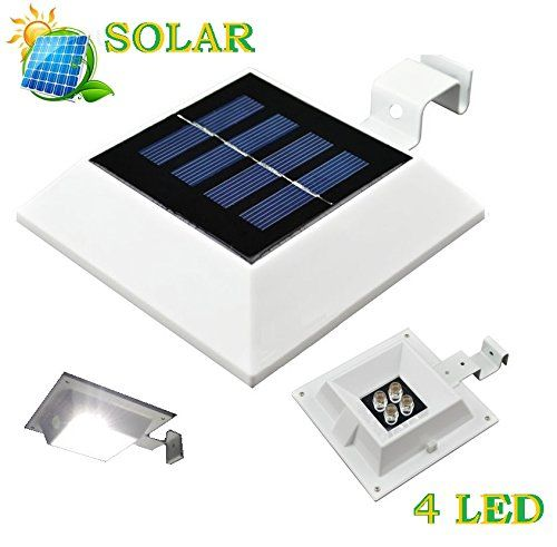 Solar Ed 4 Led Light For Outdoor Garden Roof Gutter