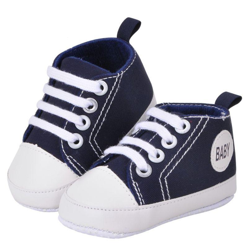 Zapatos De Bebé, RETUROM venta caliente suave para bebé nuevo estilo zapatos de la muchacha del bebé de la cuna suavemente único zapatilla de deporte (12, Azul marino)