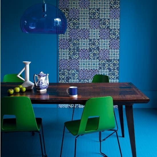 How To Break The Colour Rules  5 Ideas  Blue Green Interiors Classy Blue Green Dining Room Design Decoration