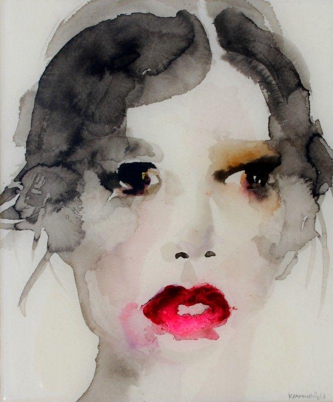 'Twentyone'   ink and watercolor covered in resin   Lisa Krannichfeld