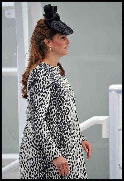 Catherine, the Duchess of Cambridge attends the Princess Cruises ship naming ceremony at Ocean Terminal in Southampton London 06/13/2013