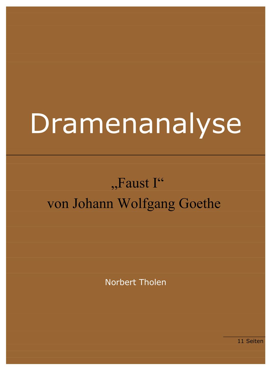 Johann Wolfgang Goethe Faust I Analysen Unterrichtsmaterial Im Fach Deutsch Wolfgang Goethe Unterrichtsmaterial Johann Wolfgang Von Goethe