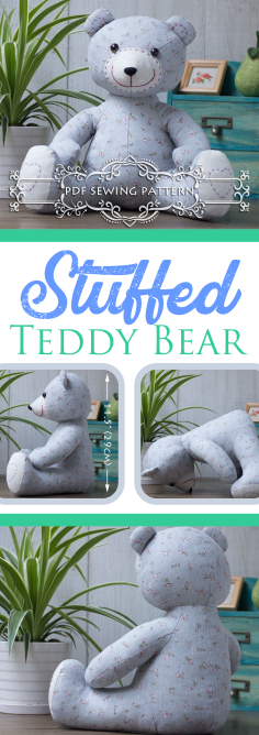 Easy, Stuffed Teddy Bear Sewing Pattern | How To Make a Teddy Bear