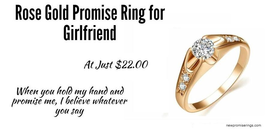 d34925f36b Get #Rose #Gold #Promise #Ring for #Girlfriend at just $22.00 #Metal: #Zinc  #Alloy #Material: #Cubic #Zirconia #newpromiserings