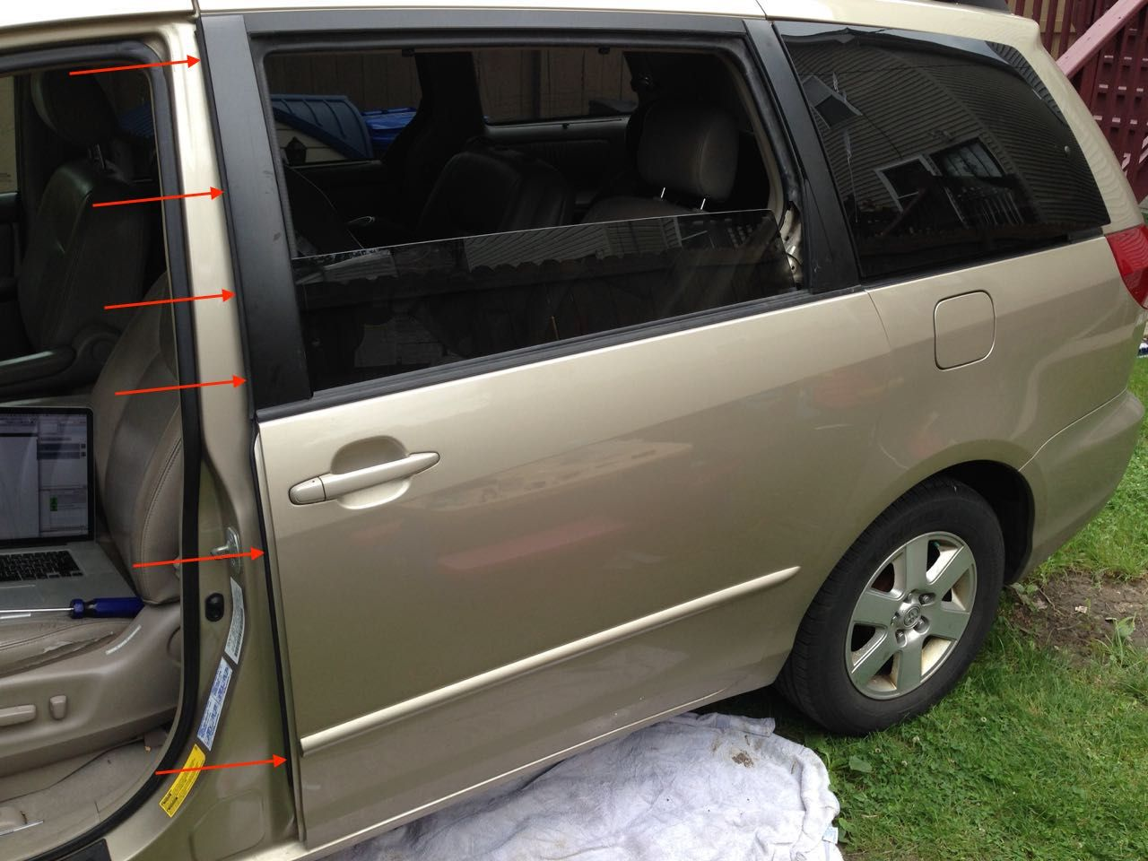 Sliding Door Crush Close Sensor Toyota Sienna Sliding Doors Toyota