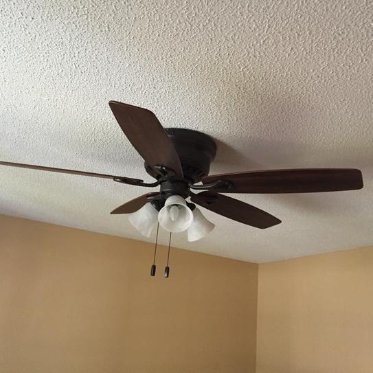 Hunter Oakhurst 52 in. Indoor Bronze Low Profile Ceiling ...