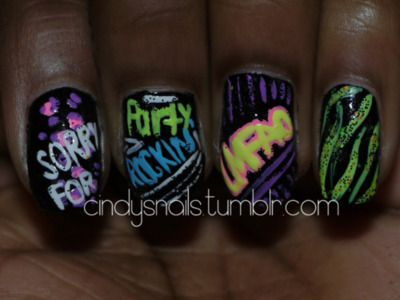 Orry For Prty R0ckin Nails Nails Nails Pinterest