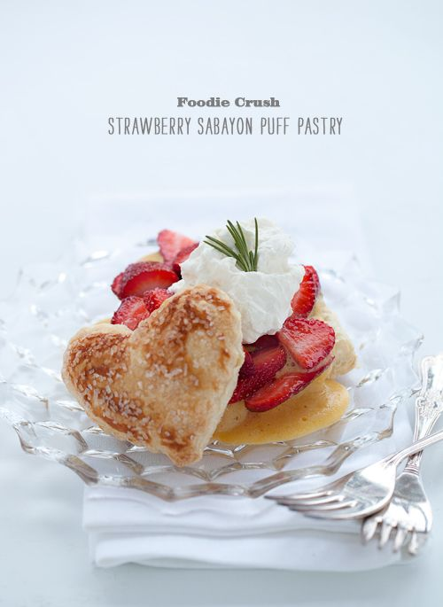 Puff Pastry with Sabayon Custard and Strawberries