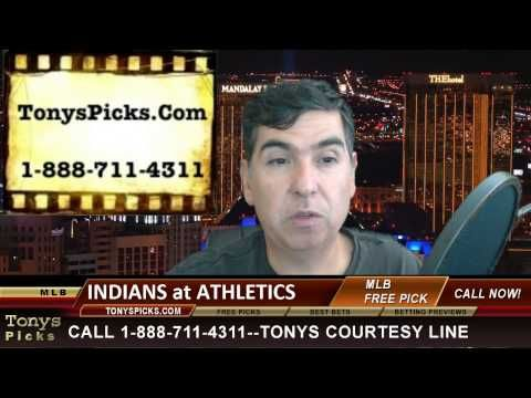 Cleveland Indians vs. Oakland Athletics MLB Pick Betting Line Odds Predi...