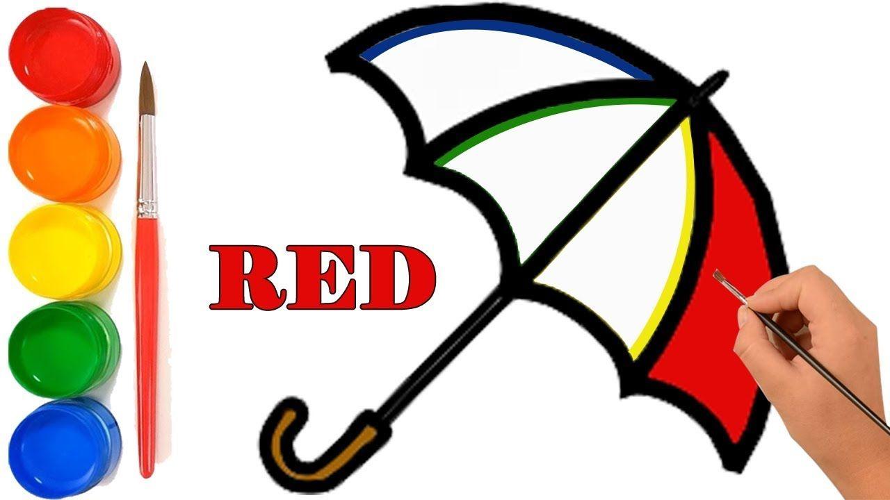 Menggambar Dan Mewarnai Payung Pelangi Untuk Anak Anak Belajar