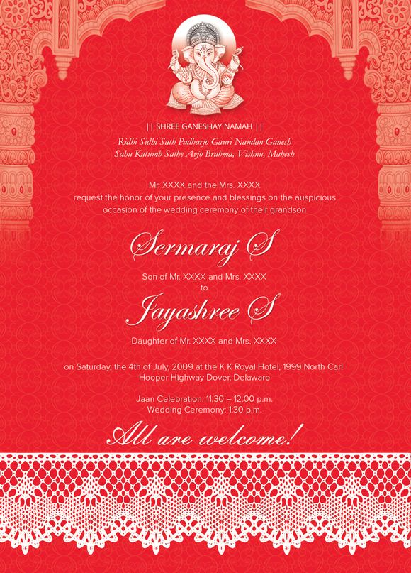 Indian Wedding Card 01 - 3 Colors By 1studio On @creativemarket