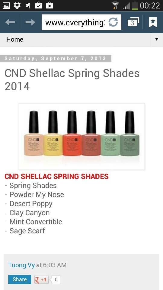 CND Shellac Spring 2014