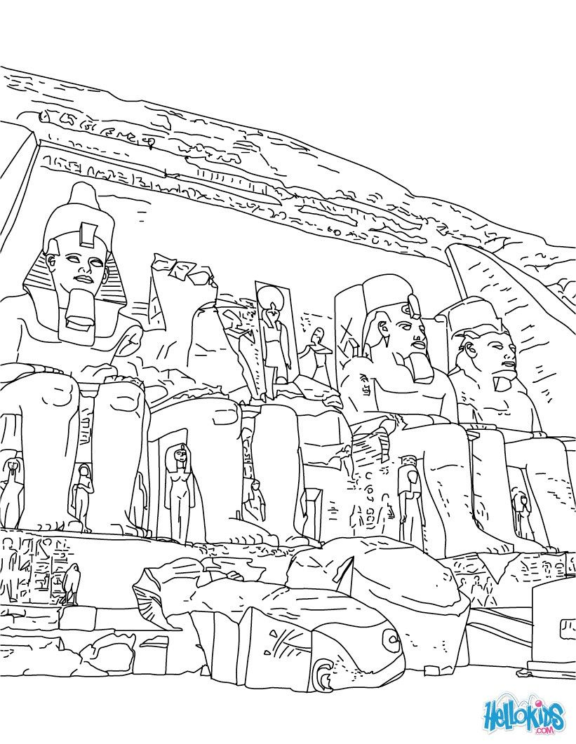 Cool Ancient Egypt Coloring Pages Free Download
