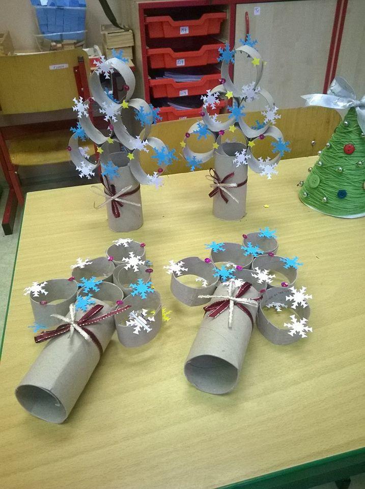 Pin De Dan Beau En Noel Pinterest Facebook Navidad Y - Manualidades-con-rollos-de-papel-higienico-para-navidad