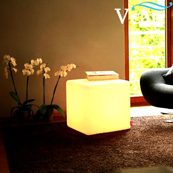 Rechargeable Waterproof Ip68 Rgb LED Light Up Cube Chairs Table To Outdoor  GardenVC A400