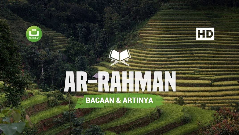 Surat Ar Rahman Beserta Artinya Arabes