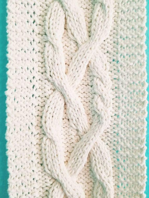 Braided Braid Cable Knitting Pattern Celtic Knot Knit Wall Hanging