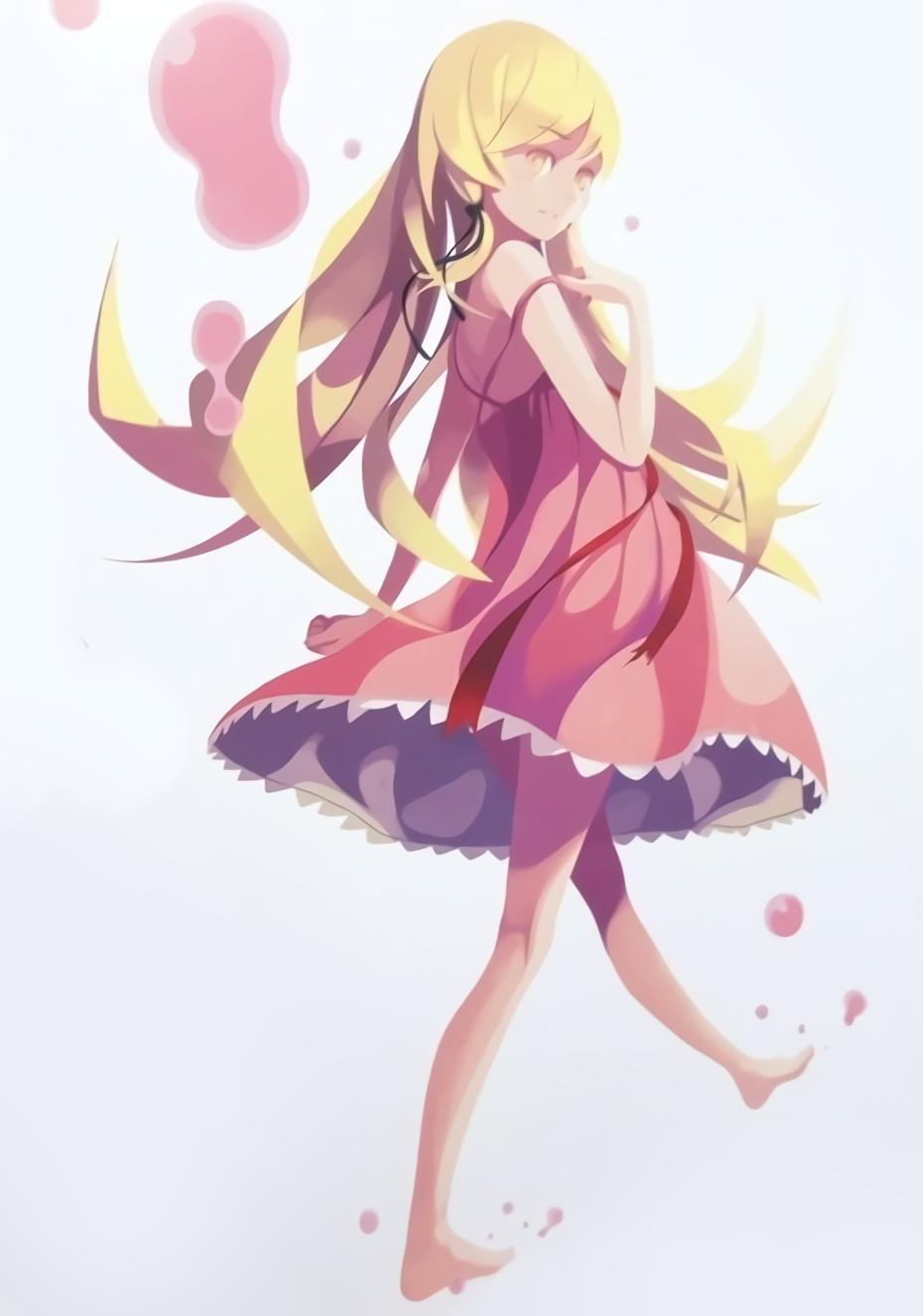 Shinobu Monogatari Series 芸術的アニメ少女 イラスト 物語シリーズ