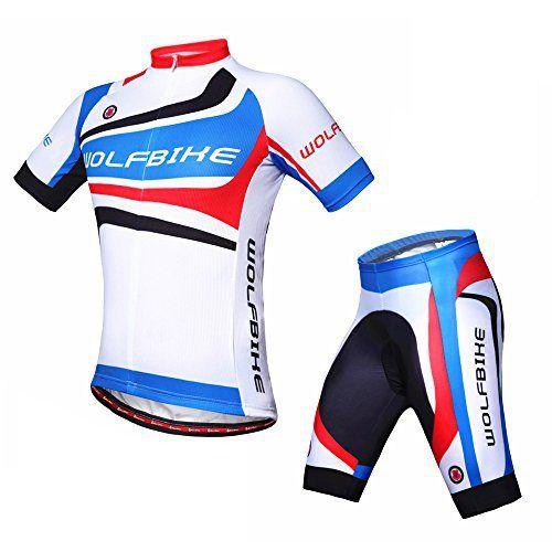 d3ccfb402 WOLFBIKE Men Cycling Jersey + Short Sportwear Suit