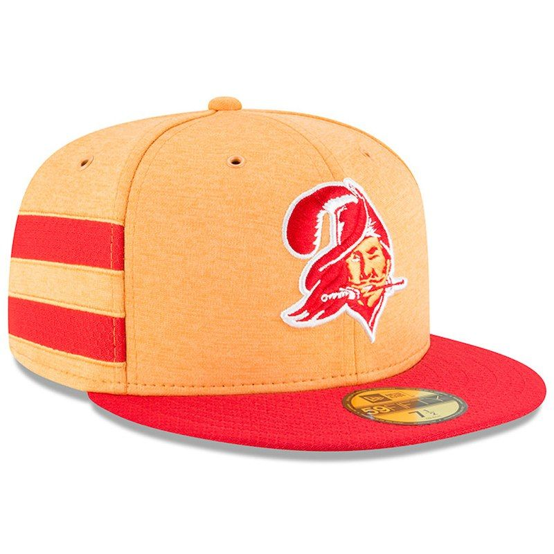 Tampa Bay Buccaneers New Era 2018 NFL Sideline Home Historic 59FIFTY Fitted  Hat – Orange Red db3c82e5d