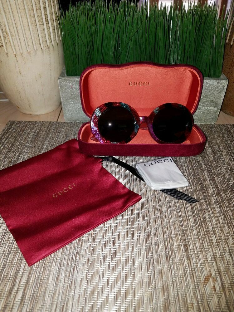ce0bb6e94e (eBay link) Brand New Gucci Women s GG0319S Round Sunglasses Multicolor  Grey Authentic  fashion  clothing  shoes  accessories  womensaccessories    ...