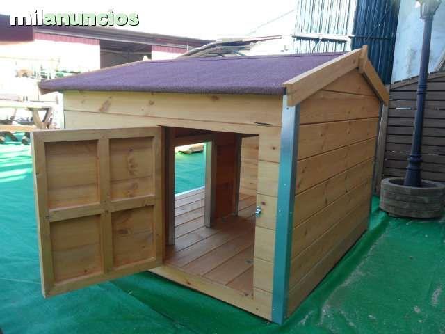 Caseta de madera para 2 perros foto 2 casetas de perro for Casetas jardin baratas