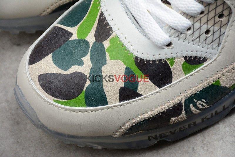 54abf7a1af Custom Off-White x Nike Air Max 90 Bape Green Camo   Hypebeast Kicks ...