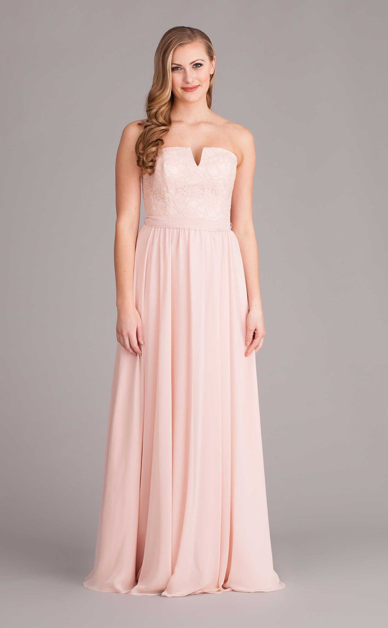 A unique strapless bridesmaid dress that\'s stunning in Blush ...