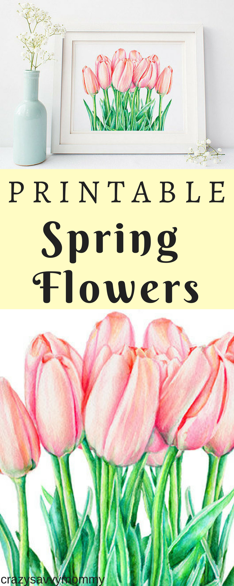 Only 500 Printable Spring Flowers This Is An Original