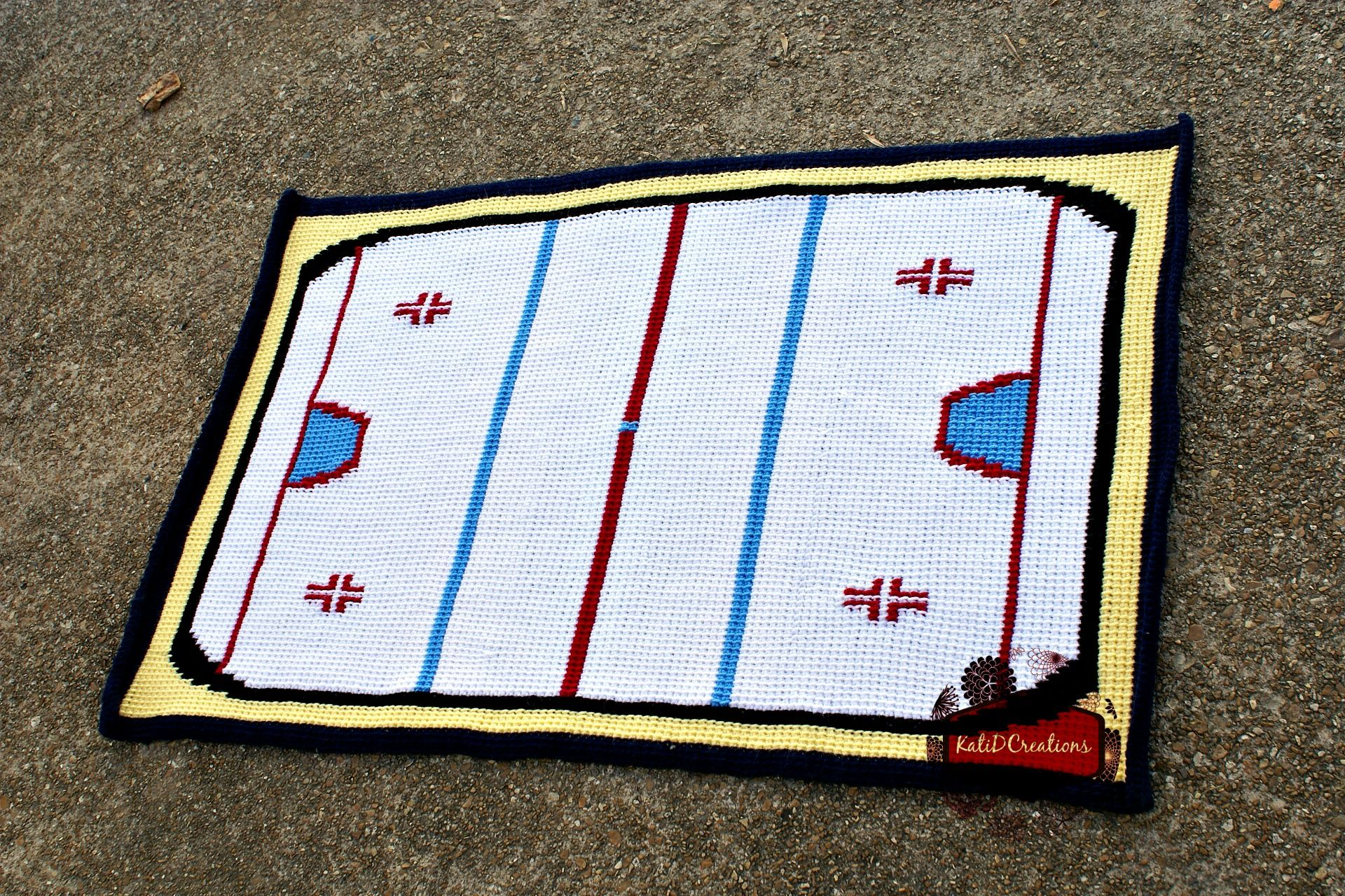 Hockey Blanket, free crochet pattern graph by KatiDCreations ...
