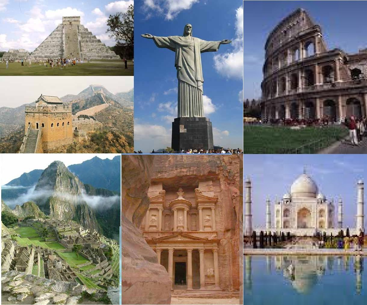 Seven Wonders Of The World 2010 Wonders Of The World Tour Around The World World Seven Wonders