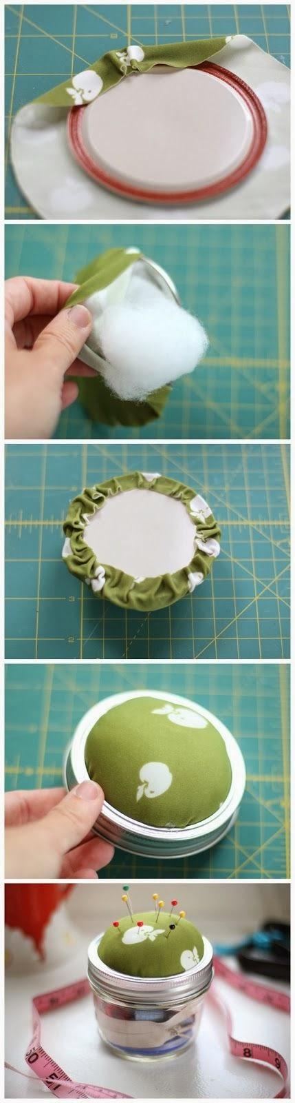 ♥ Mason Jar Sewing Kit