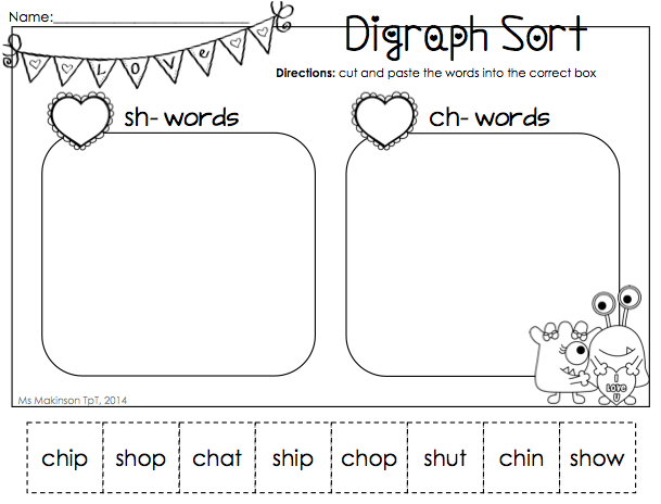 Worksheets Collect The Pictures That Begin Ch And Sh 1000 images about readch sh wh th on pinterest anchor charts videos and brother