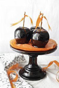 Manzanas con caramelo para Halloween