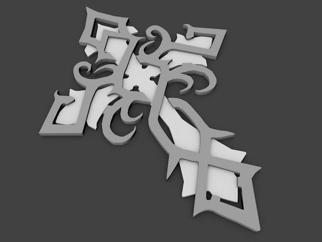 celtic cross by tomasla - Thingiverse